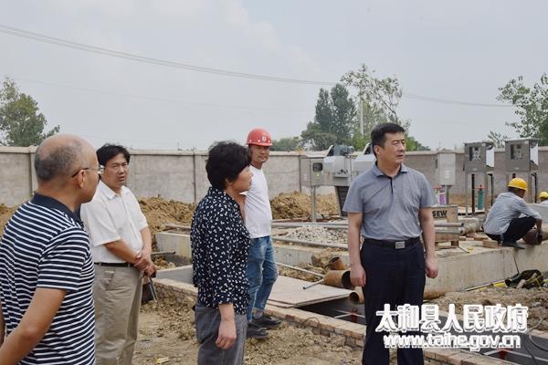 太和县委书记杨波督导改厕和乡镇污水处理厂建设等工作