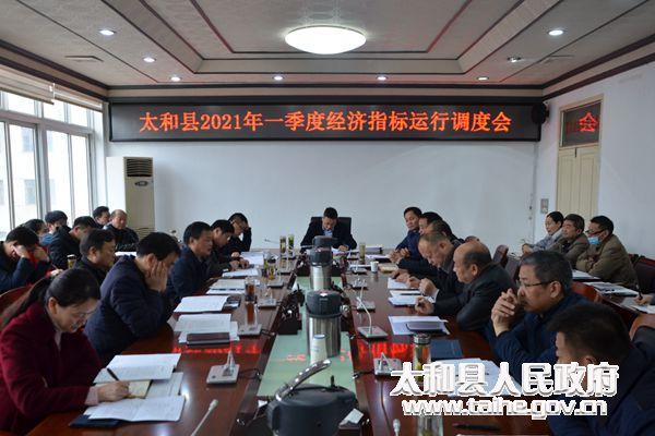 太和县委副书记、县长刘牧愚主持召开2021年一季度经济指标运行分析调度会