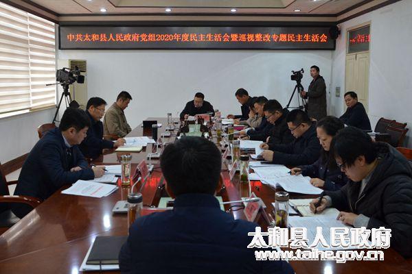 刘玉杰参加指导太和县政府党组民主生活会