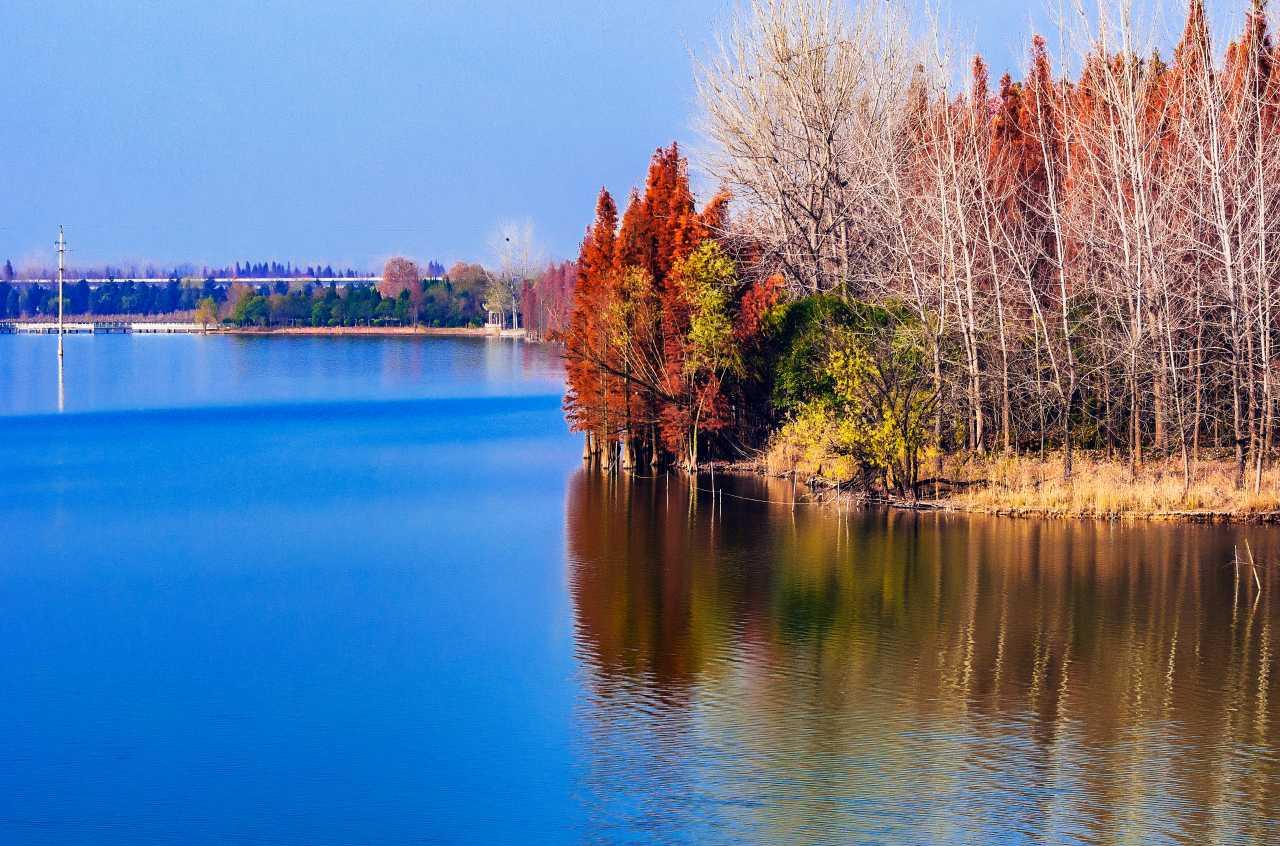 初冬的阜阳西湖
