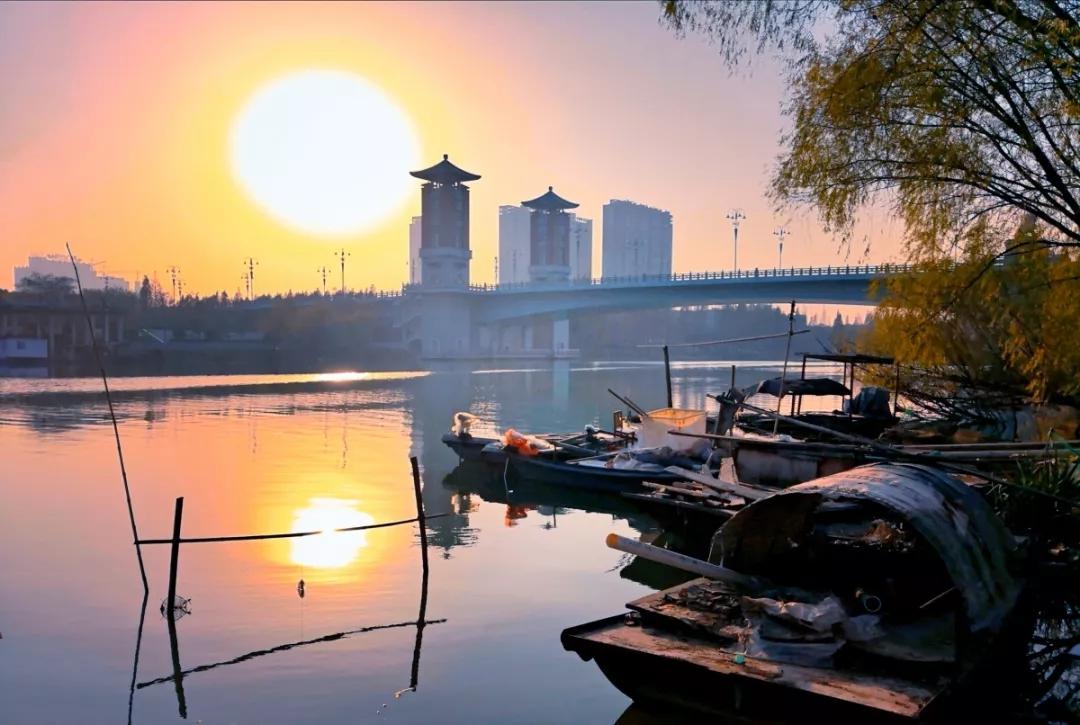 行走在冬日的泉河畔,遇见阜城最美的风景