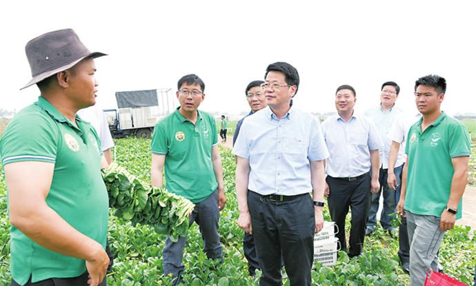杨光荣到临泉阜南调研经济社会发展和脱贫攻坚工作