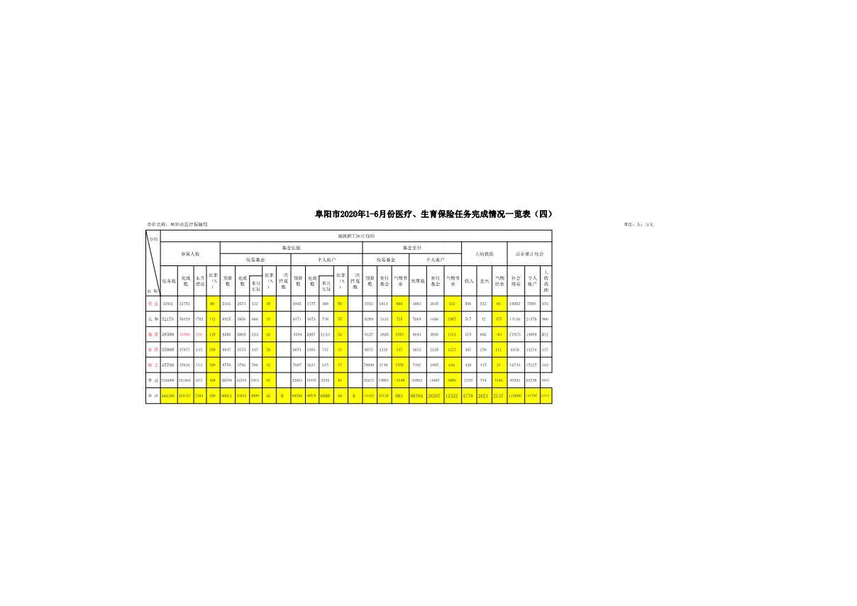阜阳市2020年1-6月份医疗、生育保险任务完成情况一览表_1.JPG