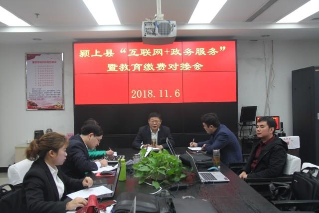 颍上县召开互联网+政务服务暨教育缴费...