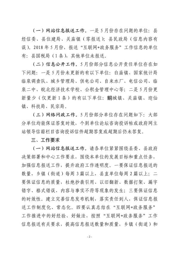【临政办明电〔2018〕182号】关于2018年5月份县政府门户网站内容保障情况的通报_2.jpg