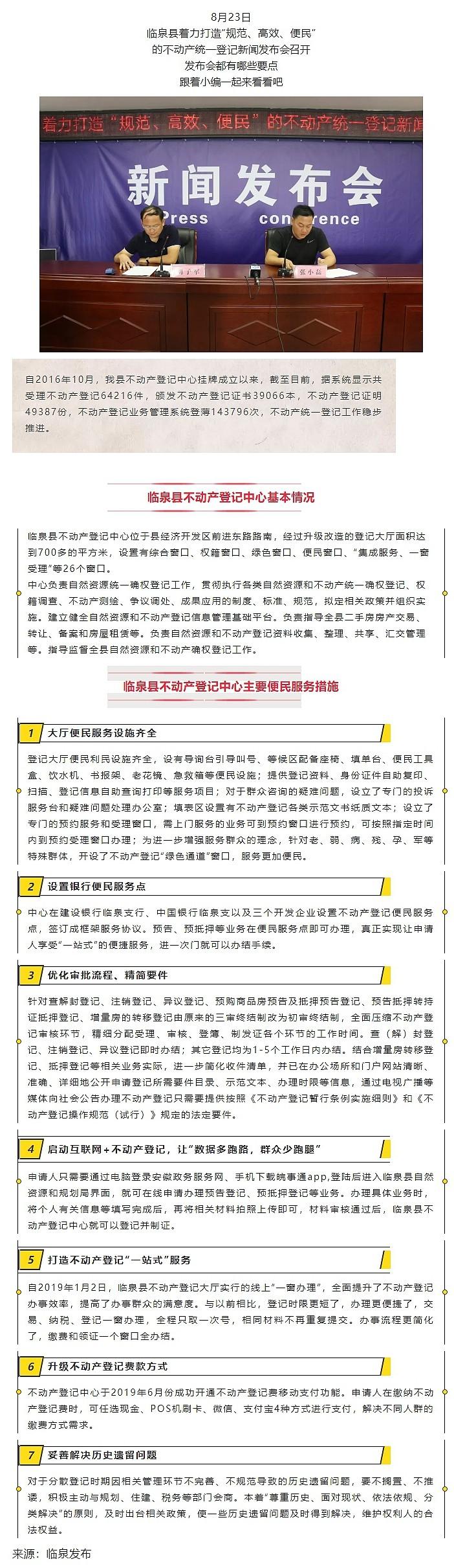 臨泉不動產登記中心都提供哪些服務?這場新聞發布會說的很明白!.jpg