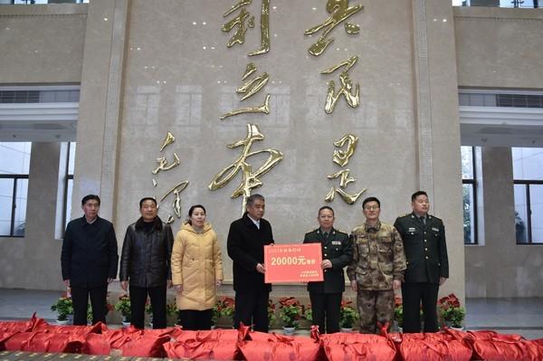 临泉县开展春节慰问驻军活动
