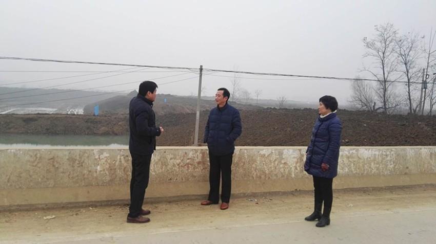 局领导督查临泉县农田水利建设