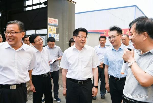 楊光榮來界首調研經濟社會發展工作