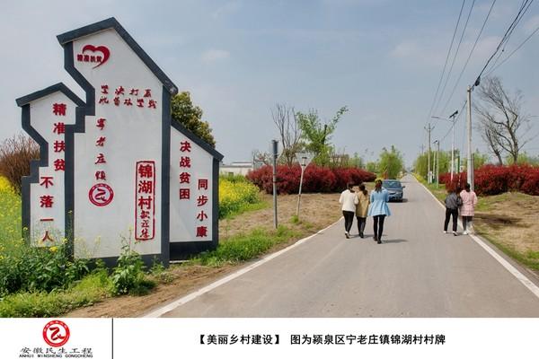 ①【美丽乡村建设】 图为颍泉区宁老庄镇锦湖村村牌.jpg