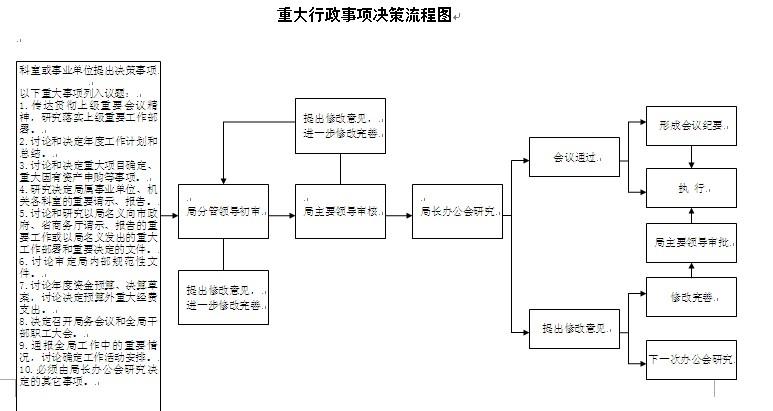 政事项决策流程图